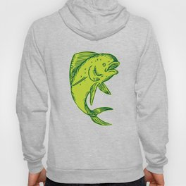 Dolphin Fish Jumping Etching Hoody