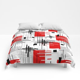 Abstract pattern Retro 3 Comforters