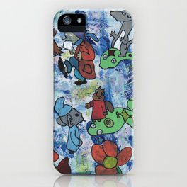 Snake race by Laila Cichos iPhone Case