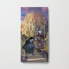Uncle Death and the Tower of Barbs Metal Print