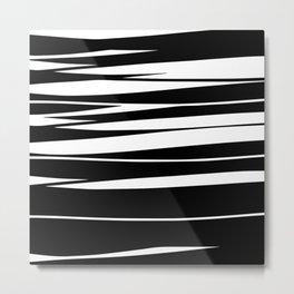 Organic No.9 Black & White #design #society6 #artprints Metal Print