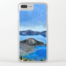 Crater Lake from Watchman Peak Clear iPhone Case