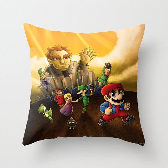 Super Mario Bros. The Movie: The Game Throw Pillow