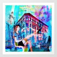 women Art Prints featuring Women by Ganech joe