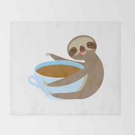 sloth & coffee 2 Throw Blanket