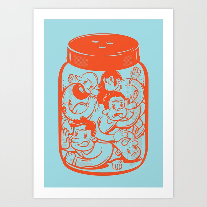 Bottled Art Print