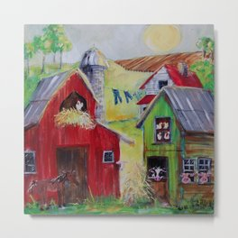 Whimsical Farm Metal Print