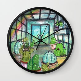 cactus are awesome Wall Clock