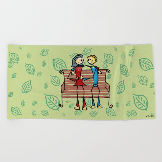 Life and living Beach Towel