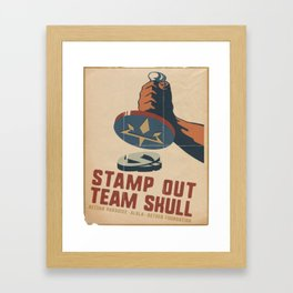 Stamp Out Team Skull Framed Art Print