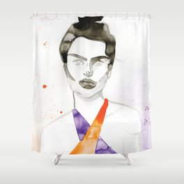 Emily In A Swimsuit Shower Curtain