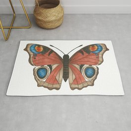 Peacock Butterfly Illustration Rug