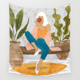 Boss Lady #illustration #painting Wall Tapestry