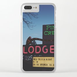 Pine Creek Lodge Clear iPhone Case