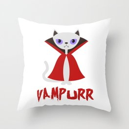 Vampurr Throw Pillow