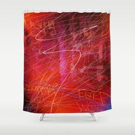 Venetian Graffiti Shower Curtain