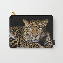 North China leopard Panthera pardus japonensis black Carry-All Pouch