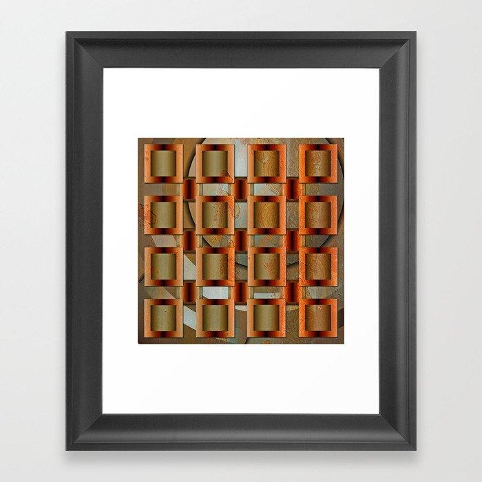 Mixed Metals Framed Art Print