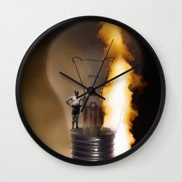figures of light Wall Clock