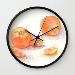 Les oranges Wall Clock
