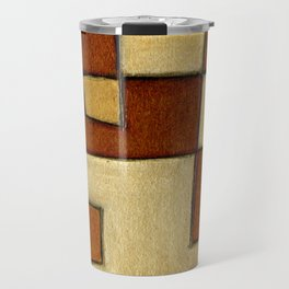 Protoglifo 01 'brown yell' Travel Mug