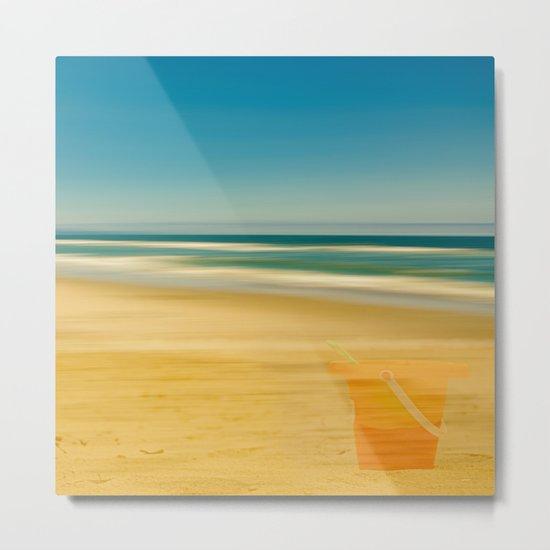 Beach & Bucket  Metal Print