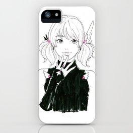 Manga sci-fi anime girl iPhone Case