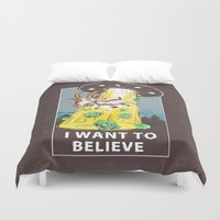 i want to believe Duvet Covers featuring i want to believe by Tatyana Soynikova