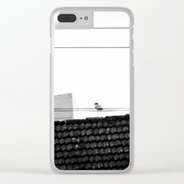 Lonely Bird Clear iPhone Case