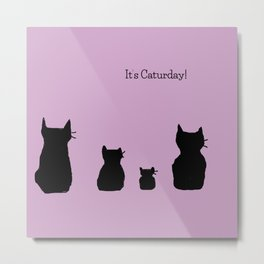 It's a cute Caturday ! Metal Print