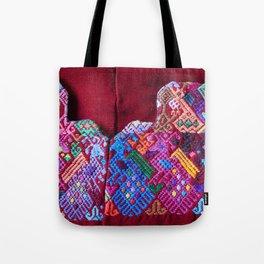 Guatemala - Huipil of Peacocks Tote Bag