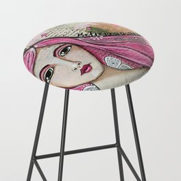 Believe in Your Own Magic Mixed Media Fairy Girl Bar Stool