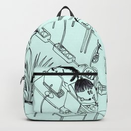 CHUBY BIRDS WITH HAIRCUTS AT WORK Backpack
