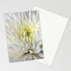 White Dahlia Flower Stationery Cards