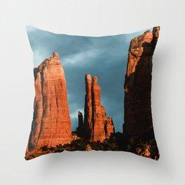 Sedona Vortex - Chimney Rock Desert Photography Throw Pillow