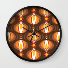 Oohladrop Brown Wall Clock