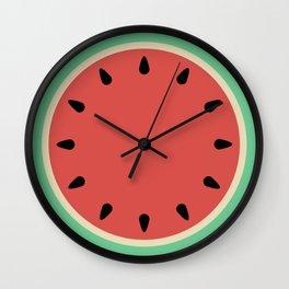 Watermelon Clock Triptych Wall Clock