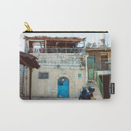 Blue in Safed Carry-All Pouch