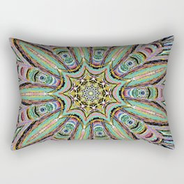 Stained Glass Window - Mandala Art Rectangular Pillow