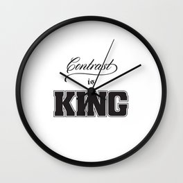 Contrast Is King on White Wall Clock