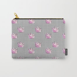 paradisebirds black dots and pink swans 2, home decor Graphicdesign Carry-All Pouch