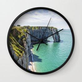 The cliffs of Etretat Wall Clock
