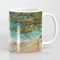 big sur Mugs featuring Big Sur - Sapphire Shore by Jenndalyn
