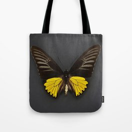 Toides Yellow Butterfly Tote Bag