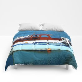 Blue Boat Comforters