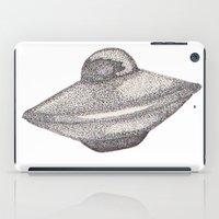 ufo iPad Cases featuring UFO by nach-o-kid
