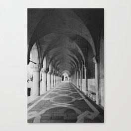V E N I C E | Black and White Canvas Print