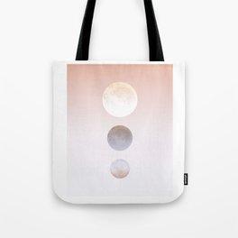 Moon Triplet Tote Bag