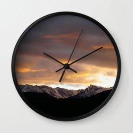 Sunset on Trail Ridge 3 Wall Clock