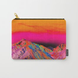 California's Sierra Mts-Digital Art, Pink & Orange Carry-All Pouch